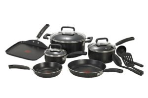 Best Nonstick 12 Piece T-fal C111SC Black Cookware Reviews